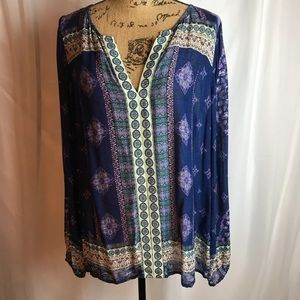 Lucky Brand Boho Peasant Tunic